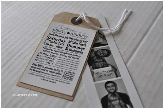 Luggage Tag Wedding Invitations Booth and Brown Luggage Tag Wedding Invitations and
