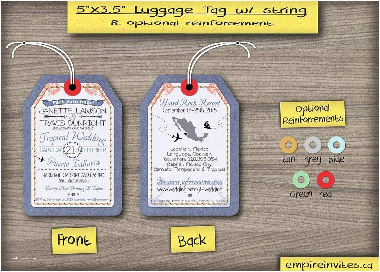 Luggage Tag Wedding Invitations Custom Luggage Tag Destination Wedding Invitations From