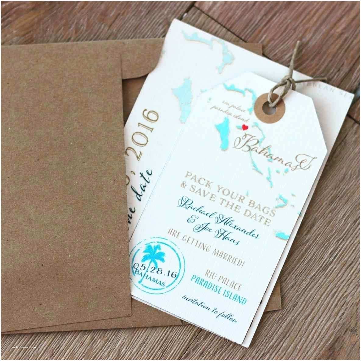Luggage Tag Wedding Invitations Destination Wedding Invitations Etsy
