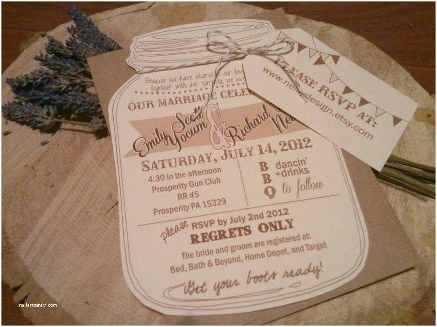 Luggage Tag Wedding Invitations Mason Jar Wedding Invitations with Rvsp Luggage Tag and