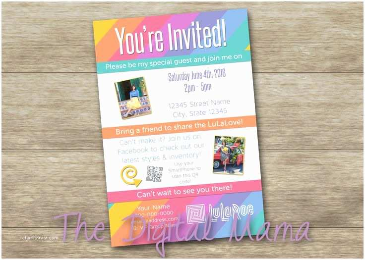 Lularoe Party Invite Wording Lularoe Pop Up Party Invitation Lularoe Brunch Launch