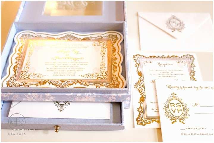 Luxury Boxed Wedding Invitations Box Wedding Invitation — Lela New York