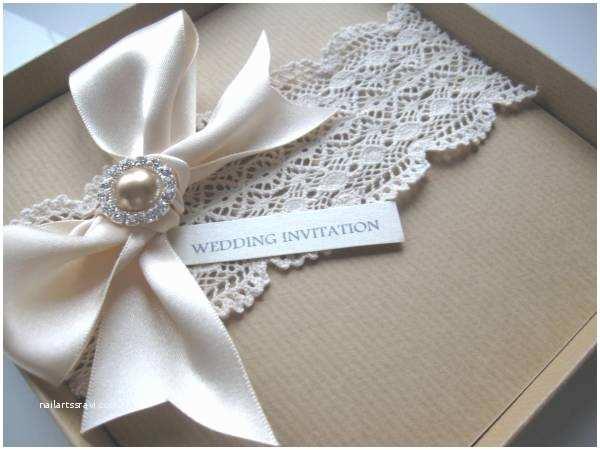 Luxury Boxed Wedding Invitations Luxury Vintage themed Wedding Invitation Guipure Lace