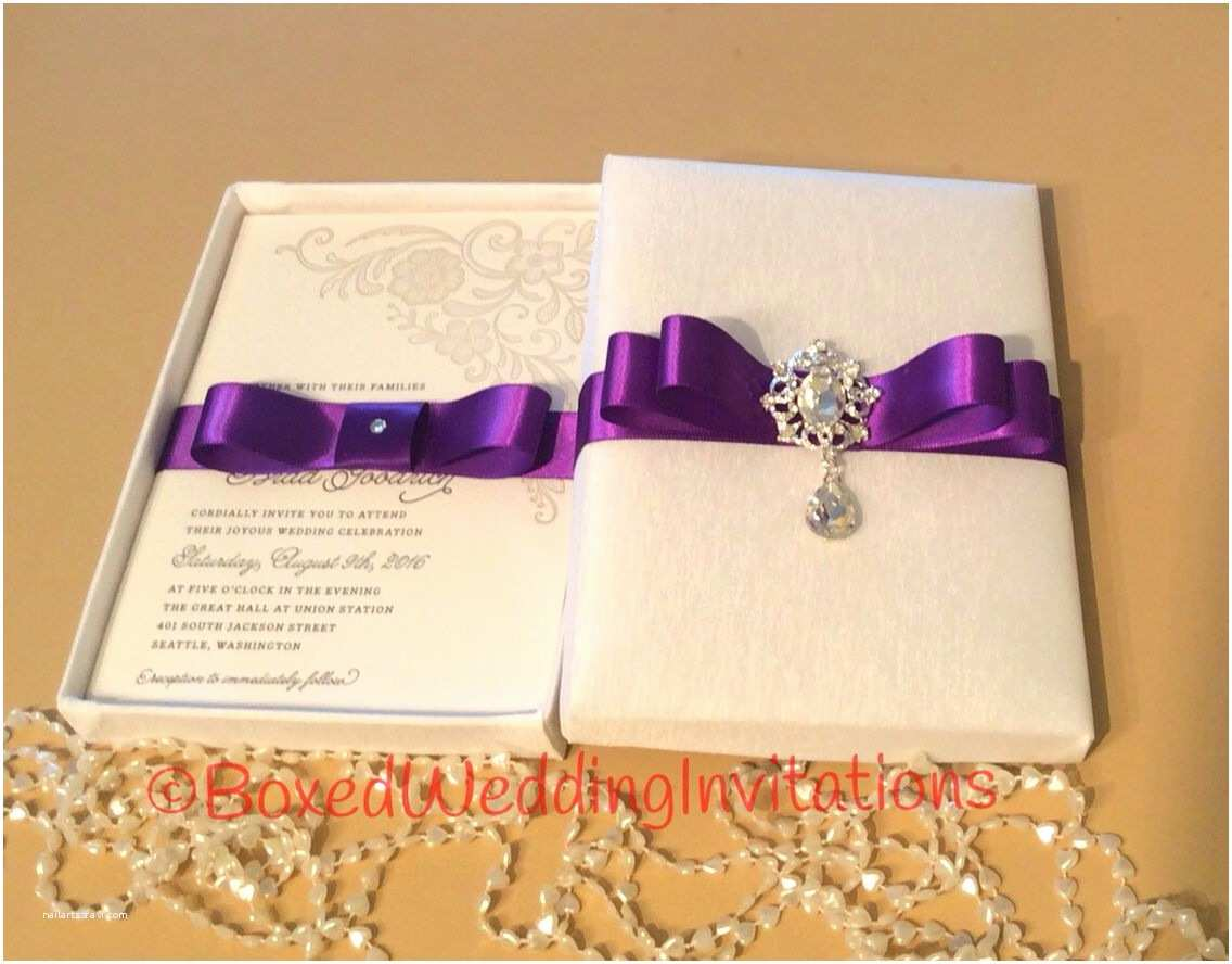 Luxury Boxed Wedding Invitations Luxury Wedding Invitation Box Adorned with An Exquisite