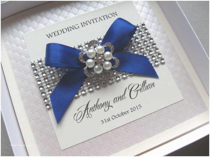 Luxury Boxed Wedding Invitations Luxury Wedding Invitations Pearls & Diamante Bling