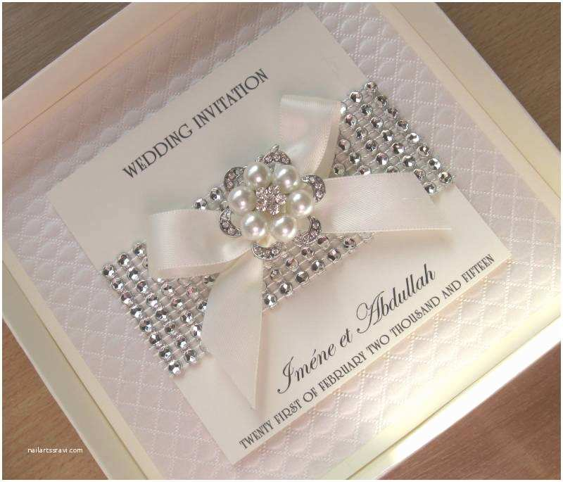 Luxury Wedding Invitations Luxury Wedding Invitations Pearls & Diamante Bling