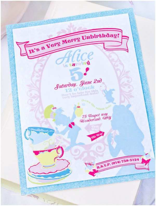 Mad Hatter Tea Party Invitations A Very Merry Unbirthday Mad Hatter Party Hostess with