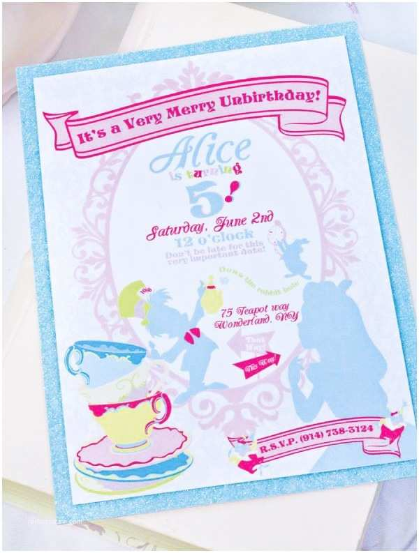 Mad Hatter Tea Party Invitations A Very Merry Unbirthday Mad Hatter Party