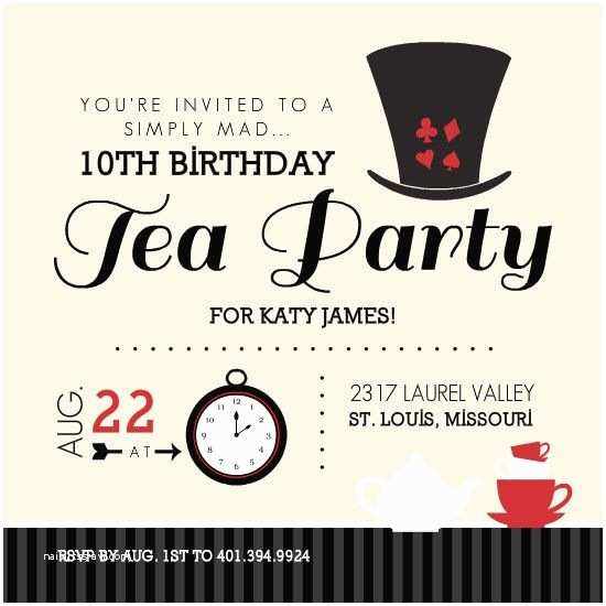 Mad Hatter Tea Party Invitations Free Printable Invitations Mad Hatter