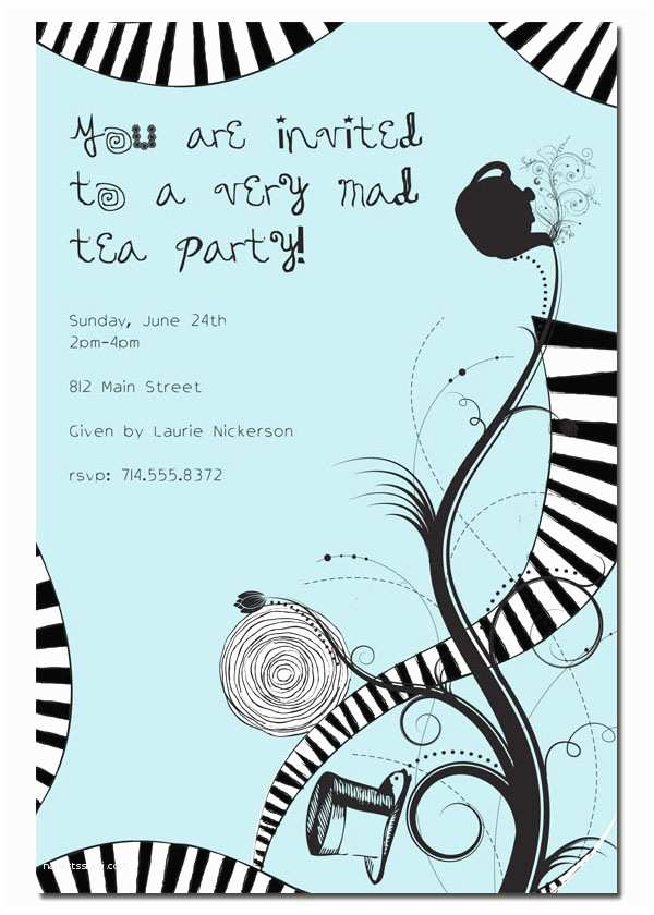 Mad Hatter Tea Party Invitations Mad Hatter Tea Party Invitations