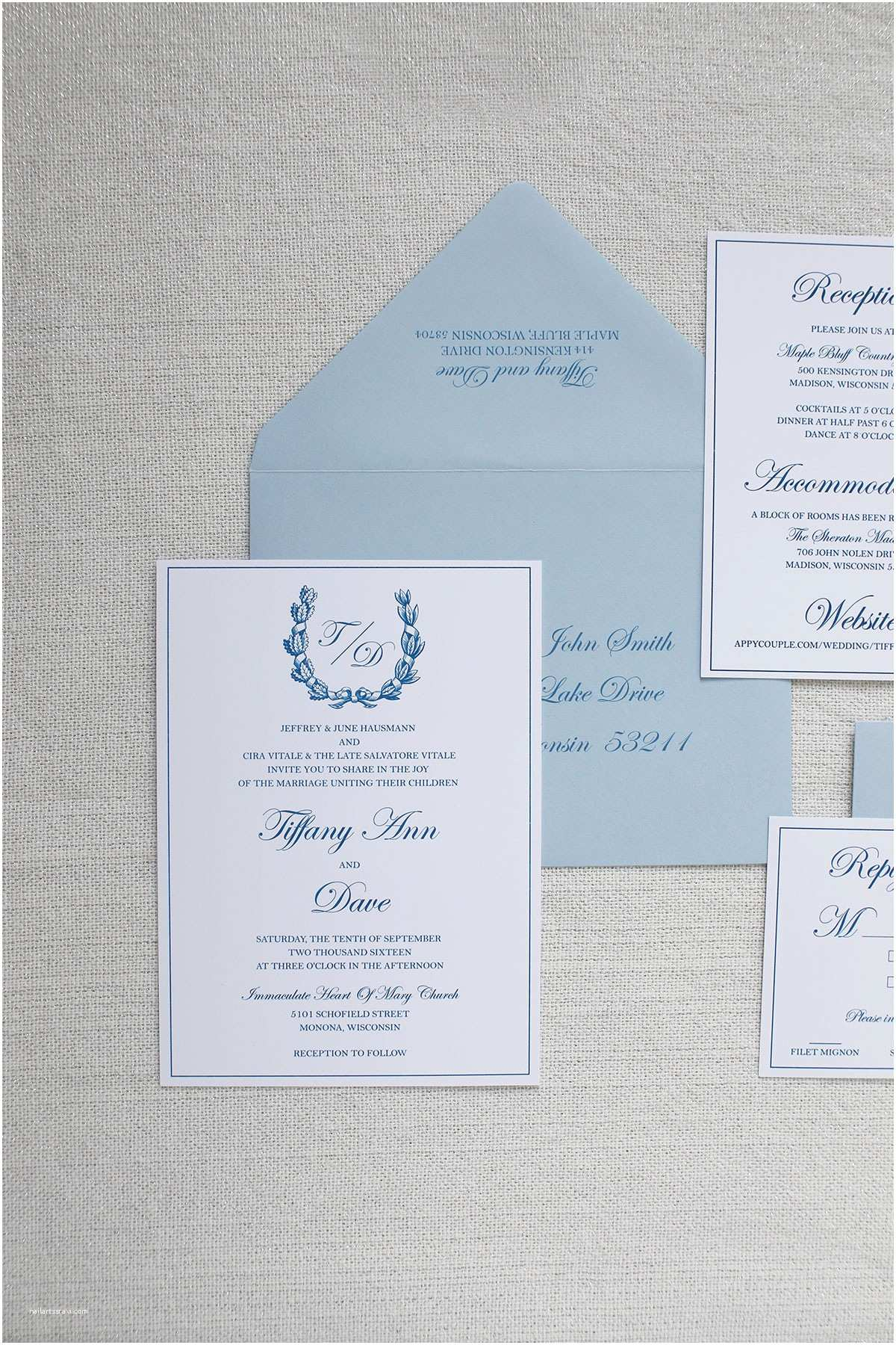 Madison Wi Wedding Invitations formal Country Club Wedding Invitation Madison Wisconsin