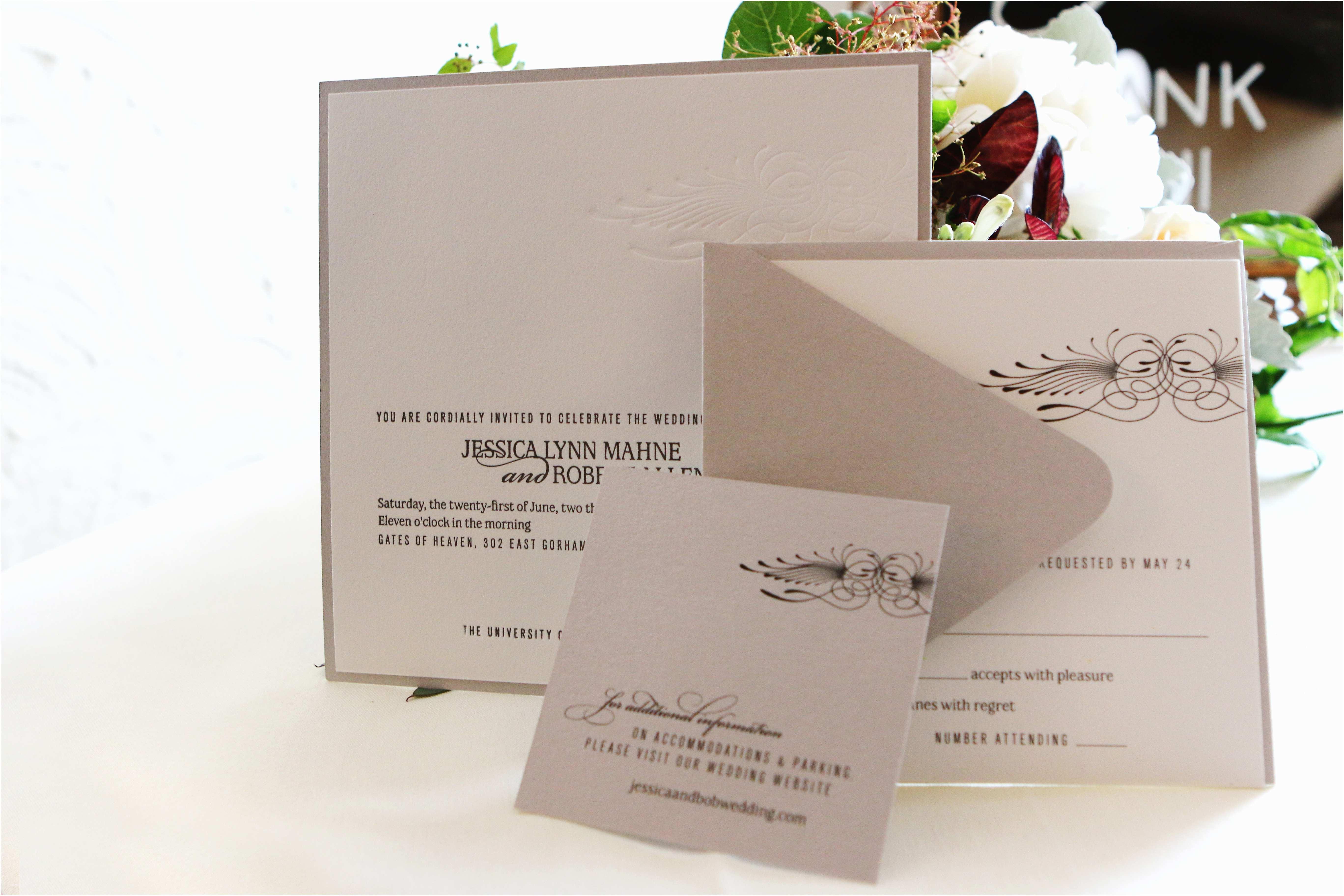 Madison Wi Wedding Invitations Letterpress Madison Wisconsin
