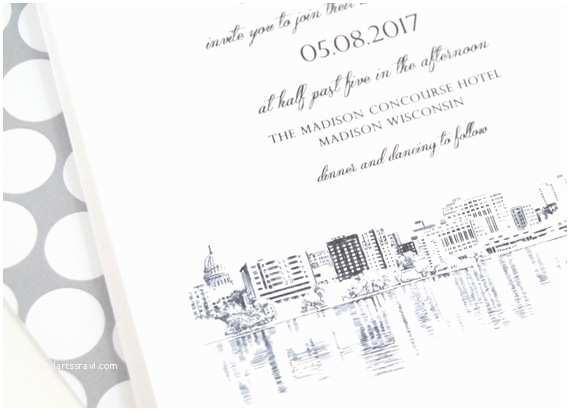 Madison Wi Wedding Invitations Madison Wisconsin Skyline Wedding Invitations