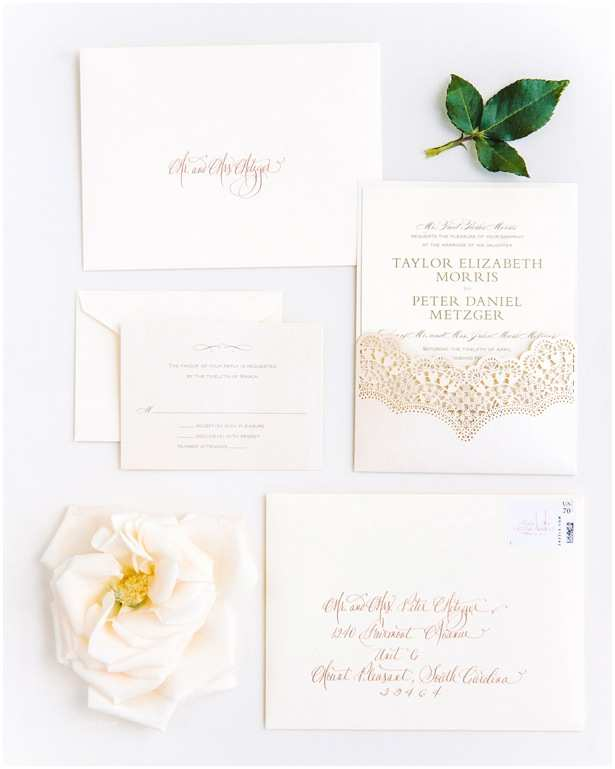 Magazine Wedding Invitation Charming southern Lakeside Wedding Belle the Magazine