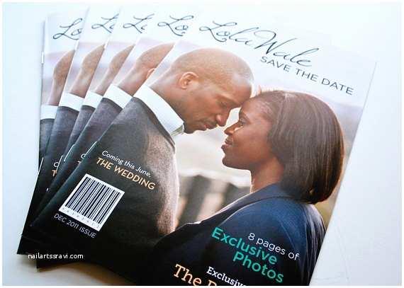 Magazine Wedding Invitation Items Similar To Save The