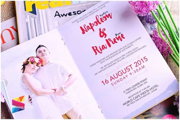 Magazine Wedding Invitation Ria & Naps Magazine Style Wedding Invitation Stunro