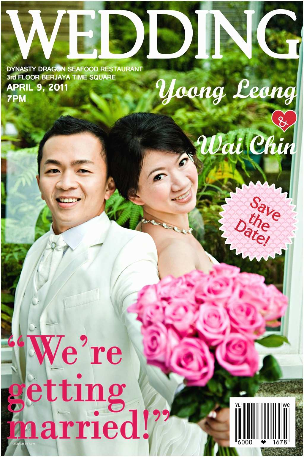 Magazine Wedding Invitation Wedding Invitation Card by Noelle Py at Coroflot