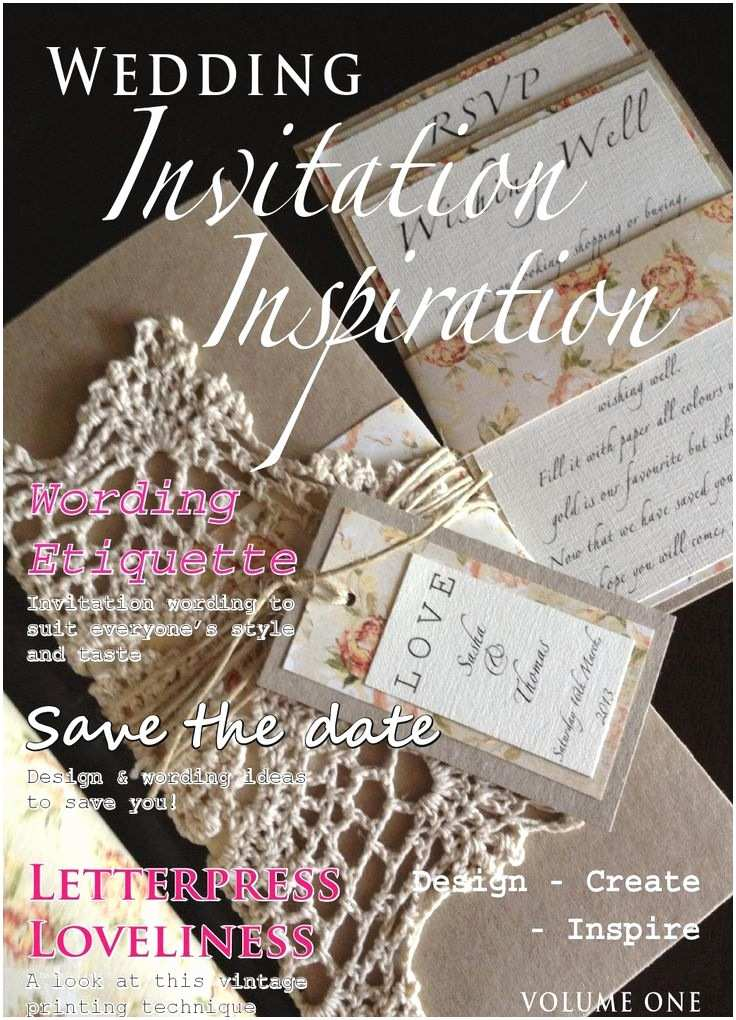 Magazine Wedding Invitation Wedding Invitation Inspiration Magazine