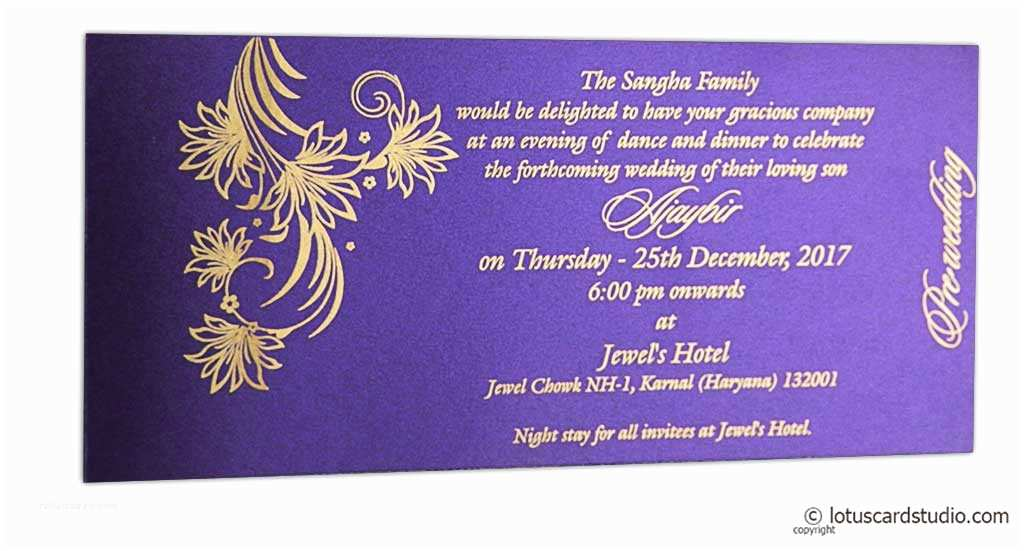 wedding invitation card with golden magnetic dazzling design wc153