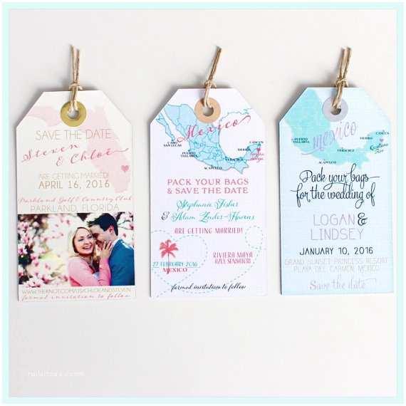 Magnet Wedding Invitations Wedding Invitation Magnet Sample Save the Date Luggage Tags