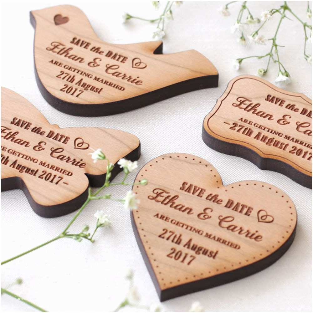Magnet Wedding Invitations Wooden Save the Date Magnet Wood Wedding Save the Dates