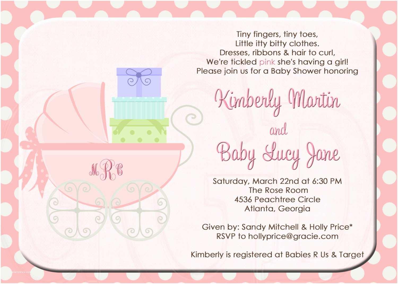 Make Baby Shower Invitations Online Baby Shower Invite Wording for Girl