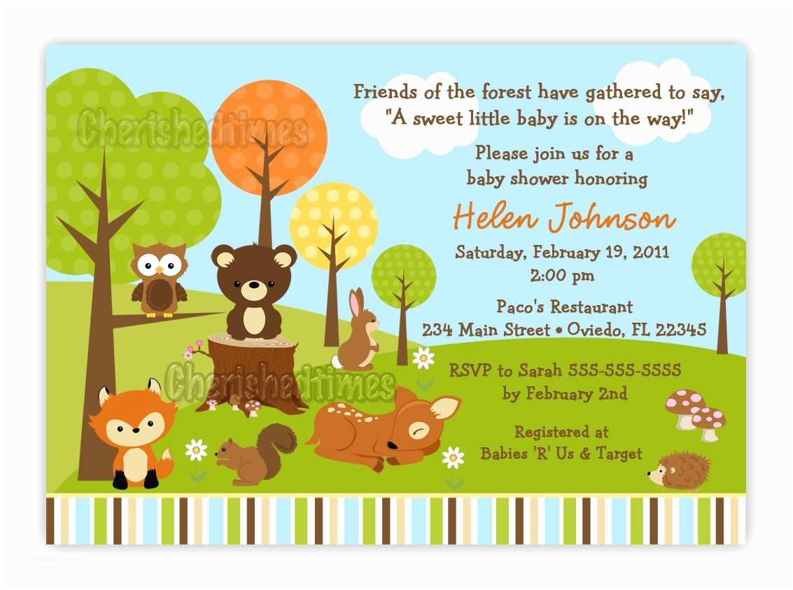 Make Baby Shower Invitations Online How to Make Woodland Creatures Baby Shower Invitations