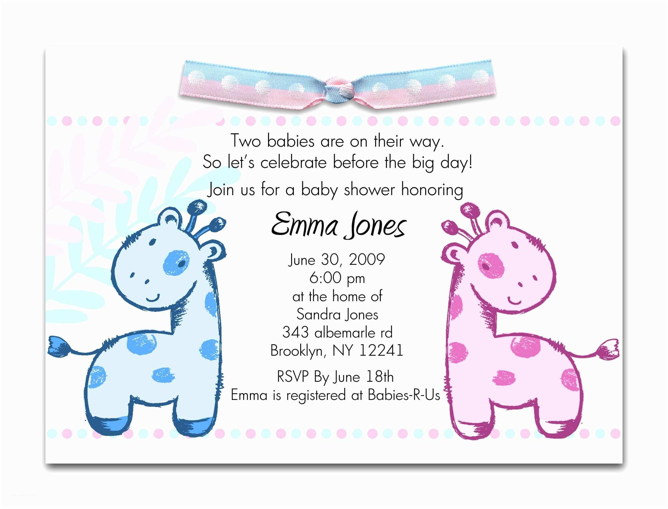 Make Baby Shower Invitations Online Printable Baby Shower Invitations Twins