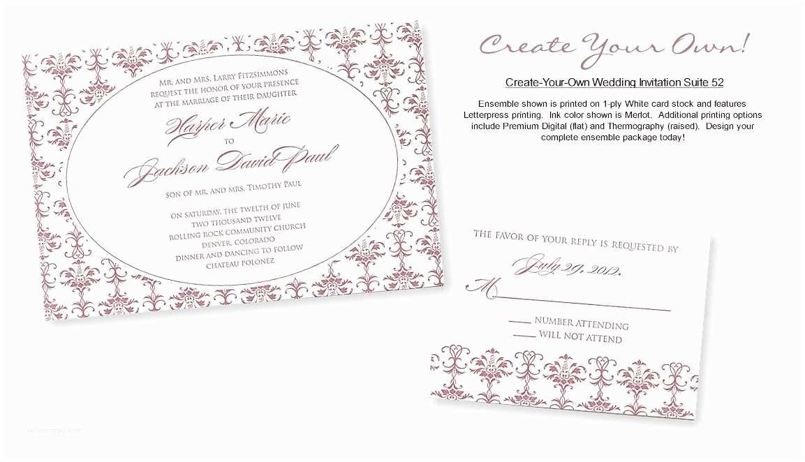 Make My Own Wedding Invitations Wedding Invitation Best How To