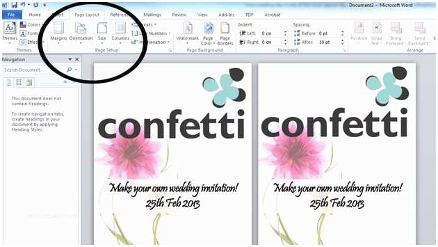 Make Your Own Wedding Invitations How to Make Your Own Wedding Invitations Confetti