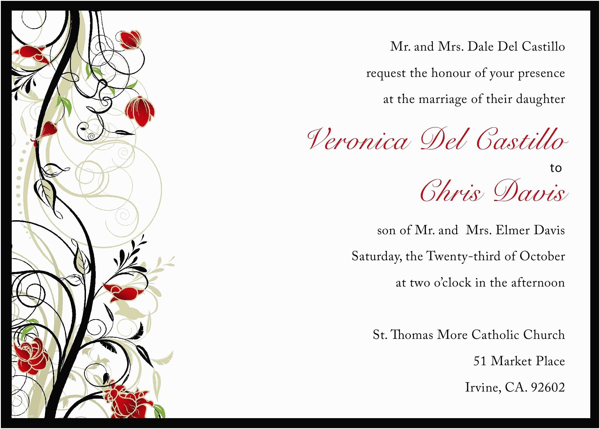 Make Your Own Wedding Invitations Online Free Wedding Invitation Printable Templates