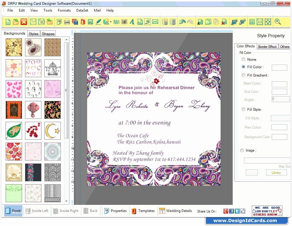 design wedding cards