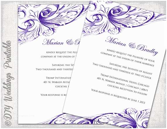 Make Your Own Wedding Invitations Templates Best Collection Free Printable Wedding Invitation