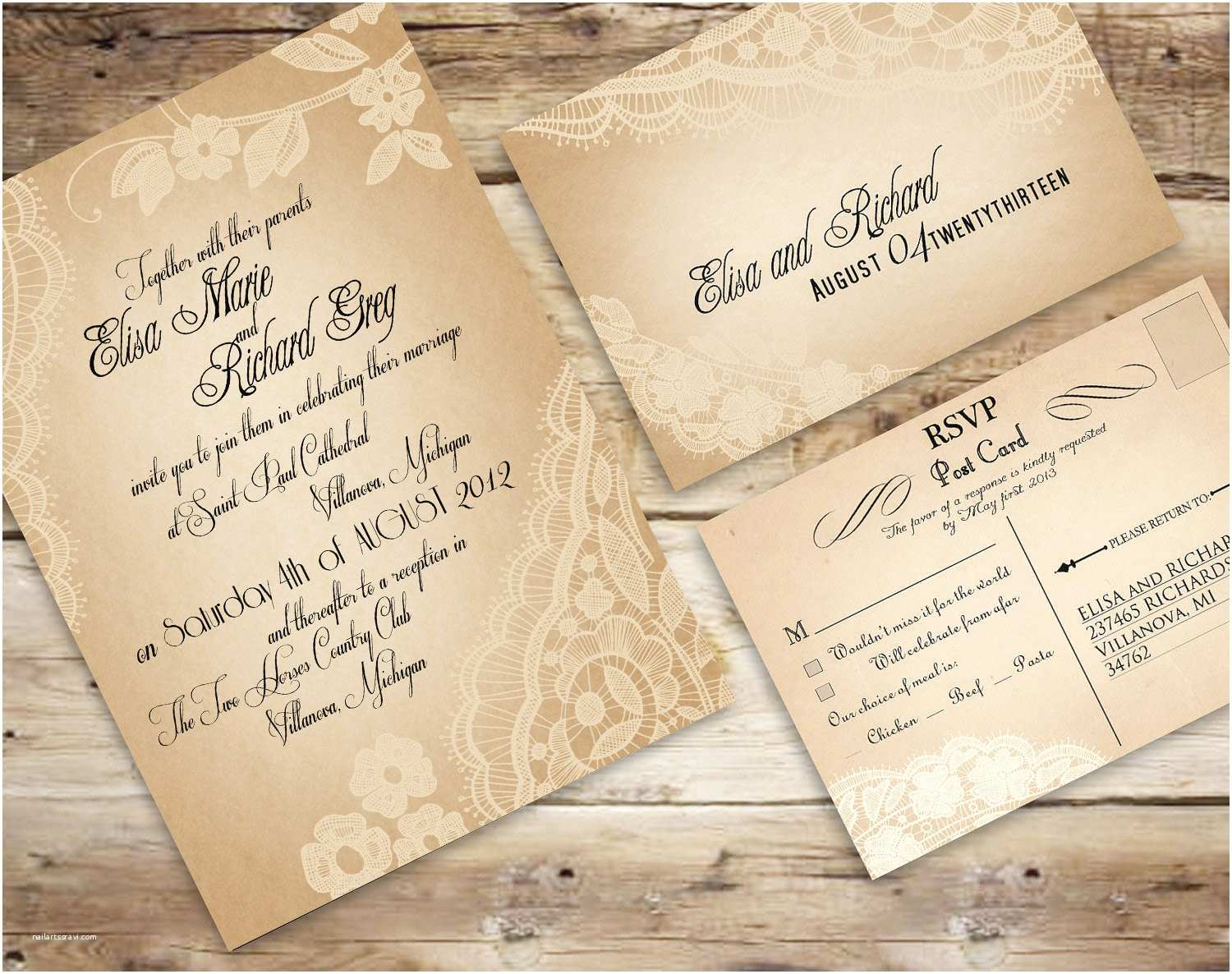 Make Your Own Wedding Invitations Templates Make Your Own Vintage Lace Wedding Invitations Free