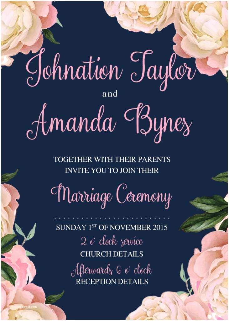 Make Your Own Wedding Invitations Templates Printable Wedding Invitation Templates