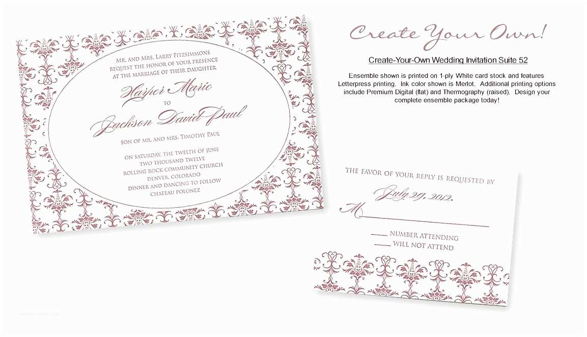 Make Your Own Wedding Invitations Templates Wedding Invitation Wording Wedding Invitation Templates Latex