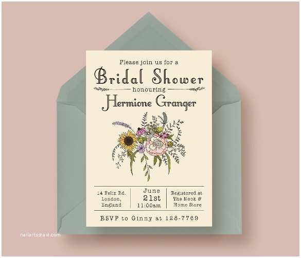 Make Your Own Wedding Shower Invitations Free 25 Bridal Shower Invitation Templates Download Free
