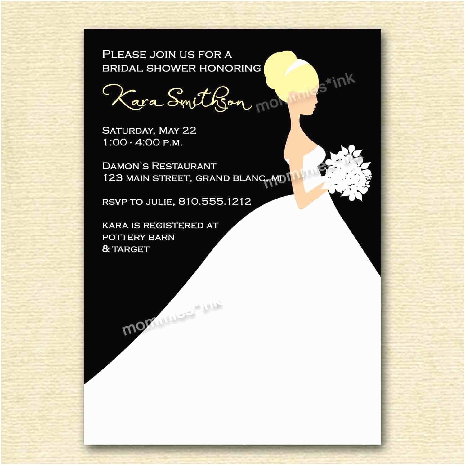 Make Your Own Wedding Shower Invitations Free Bridal Shower Invitations Bridal Shower Invitation Cards