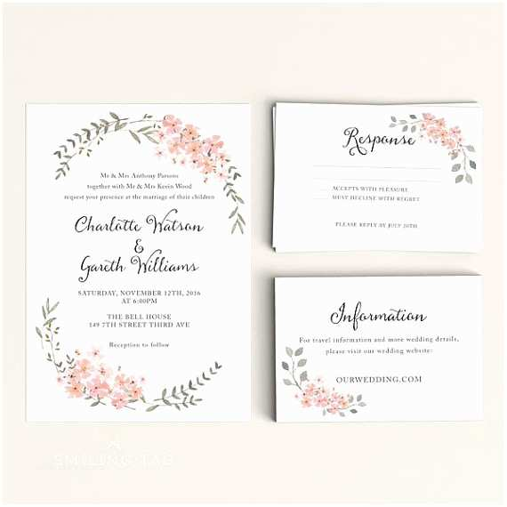 Make Your Own Wedding Shower Invitations Free Wedding Invitations with Rsvp Cards