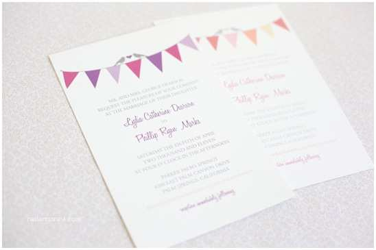 Make Yourself Wedding Invitations Bunting Do It Yourself Wedding Invitations