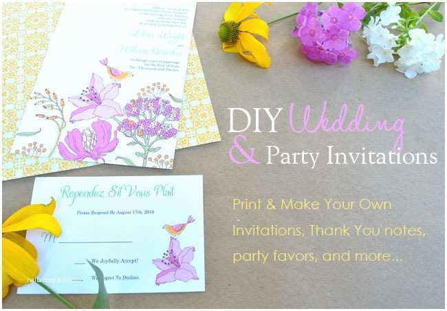 Make Yourself Wedding Invitations Printable Invitation Templates Birthday Baby Shower