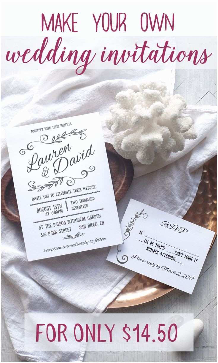 Making Wedding Invitations at Home Blog Worthy Wedding Invitations that You Can Make at Home