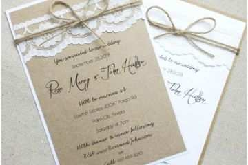 Making Wedding Invitations At Home How To Create Your Own Wedding