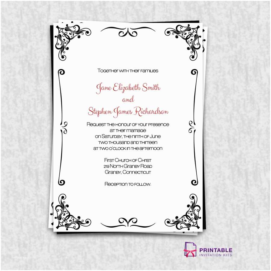 Making Wedding Invitations at Home Templates for Wedding Invitations