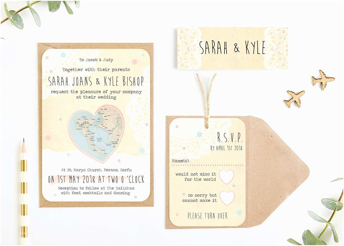Map Cards for Wedding Invitations Rustic Map Wedding Invitations norma&dorothy