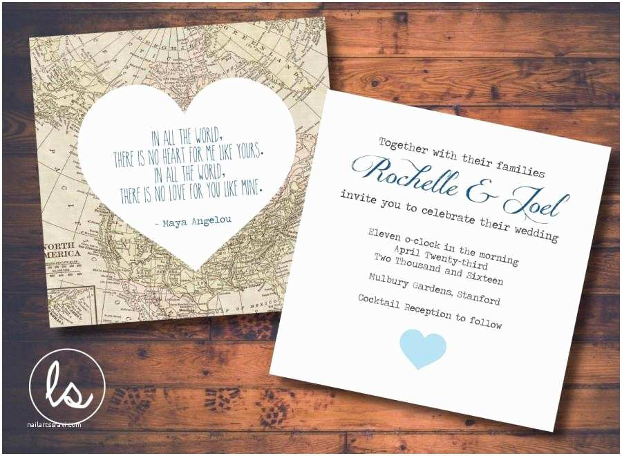 Map Wedding Invitations 11 Fearsome Map Wedding Invitations which You Searching