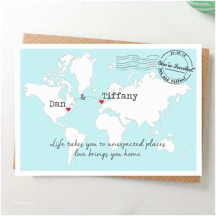 Map Wedding Invitations 25 Best Ideas About Postcard Wedding Invitation On