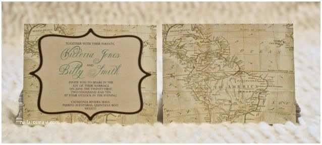 Map Wedding Invitations Map Invite Std Invites Pinterest
