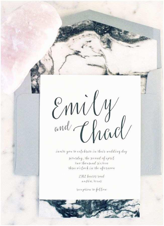Marble Wedding Invitations Best 100 Marble Wedding Invitations Images On Pinterest