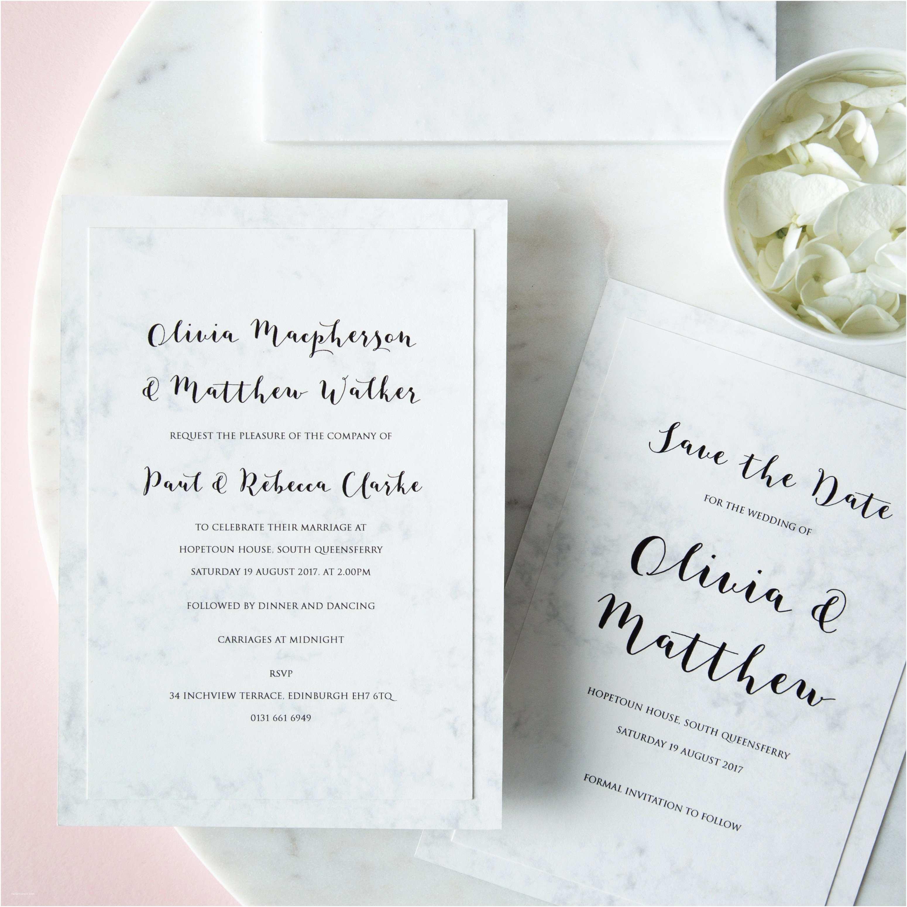 Marble Wedding Invitations Marble Wedding Invitation